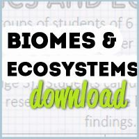 Biomes and Ecosystem Freebies - Research Cards and Two Graphic Organizers