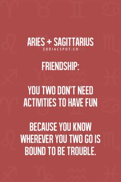 aries and sagittarius relationship problems