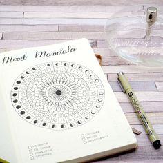 Juillet 2017 dans mon Bullet Journal - Mood Mandala