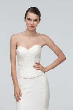 Two piece wedding dress buy corset top and skirt separate @watterswtoo Ann Corset 9016B & Dune Skirt 8034B