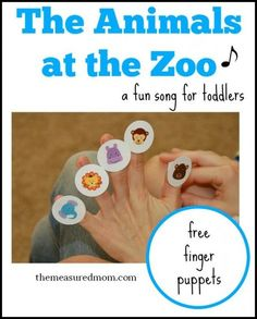 An Animal Sound Song with free finger puppets - The Measured Mom