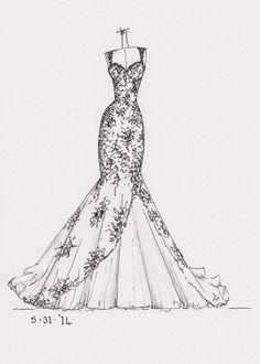 marriage dress sketches - Buscar con Google