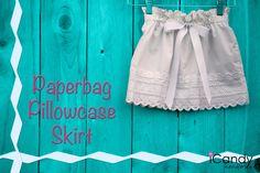 Paperbag pillowcase skirt