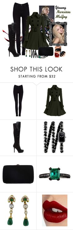"""""""Young Narcissa Malfoy"""" by evii-chase ❤ liked on Polyvore featuring Lee, Chanel, Sergio Rossi, Jack Vartanian, Boucheron, Charlotte Tilbury, women's clothing, women, female and woman"""