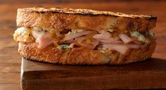 BBQ GRILLING #BBQ #Grilling Smoked Turkey Sandwiches with Blue Cheese and Caramelized Onions