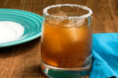 Michelada -- A Mexican-style beer cocktail with lime juice, hot sauce, and Worcestershire