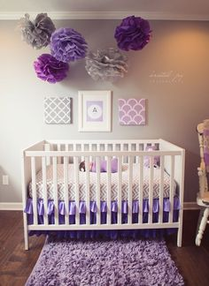 Girl nursery ideas purple decoration purple baby nursery ideas best rooms on girl by room and Baby Bedroom, Baby Room Decor, Nursery Room, Girls Bedroom, Ideas Habitaciones, Everything Baby, Nursery Inspiration, Baby Time, Nursery Themes