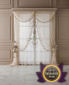 Luxury curtains is the final touch in creating interiors. Luxury Antonovich Design Studio offers best solutions of textile design. We work with the best brands and the excellent quality of the implementation.