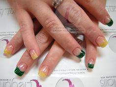 Shellac polish, spa, care, Gel nails, glitter tips,