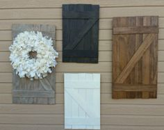 Mini Barn door rustic decor wall hanging by BellaChickDesigns