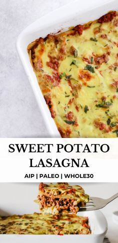 Ground Italian Sausage Recipes, Ground Chicken Recipes, Sweet Potato Lasagna Recipe, Ground Beef Sweet Potato Recipe, Paleo Ground Beef, Paleo Lasagna, Dinner With Ground Beef, Vegetarian Recipes, Healthy Lasagna Recipes