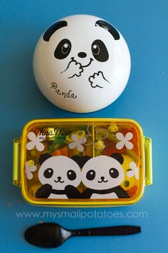 Ooooh I want this panda bento box!!! In yellow, with white blossoms! Very cute and summertimesy!