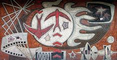GRAFFITIZONE • Советская мозаика Киев, бульвар Леси Украинки
