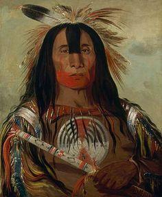 Souix /& Blackfoot Indian Battle Fight Painting 8x10 Real Canvas Art Print