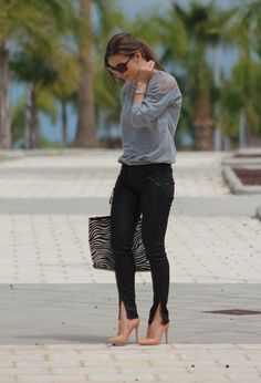 Vila  T Shirts, Guess  Jeans and Zara  Heels / Wedges