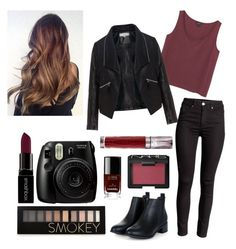 """""""Smokey"""" by anjolea on Polyvore featuring Monki, Zizzi, Forever 21, Smashbox, Chanel, NARS Cosmetics, Urban Decay, women's clothing, women and female"""