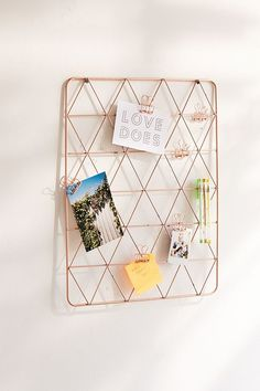 Shop Geo Wire Wall Grid at Urban Outfitters today. We carry all the latest styles, colors and brands for you to choose from right here. Rose Gold Room Decor, Rose Gold Rooms, Gold Bedroom, Bedroom Decor, Bedroom Wall, Bed Room, Diy Old Books, Cute Room Decor, Aesthetic Rooms