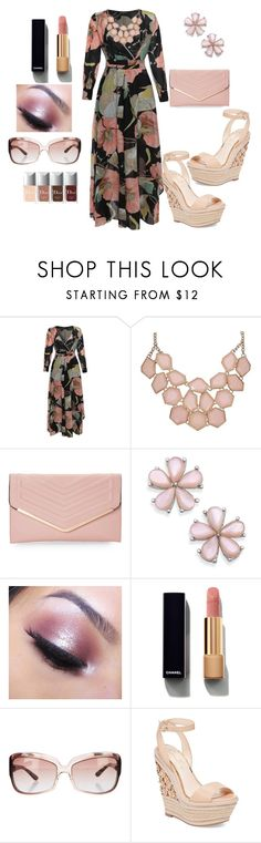 """Dress"" by tholliscole ❤ liked on Polyvore featuring Sasha, Too Faced Cosmetics, Chanel, Oliver Peoples and Jessica Simpson"