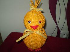 velké kuře velké kuře pletené z papírového pedigu o velikosti 22 cm