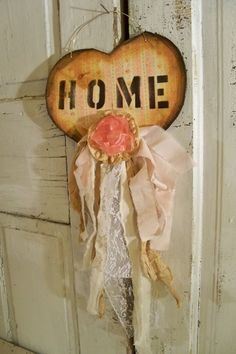 Hand made heart wall shabby chic decor