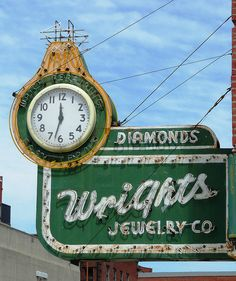 St Joseph, MO Wright's Jewelry neon sign by army.arch, via Flickr