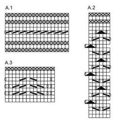 Neulotut pitsisukat DROPS Fabel-langasta. Koot 35 - 43. Ilmaiset ohjeet DROPS Designilta.