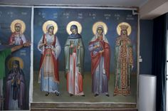 Church Interior, Byzantine Icons, Religious Images, Orthodox Icons, Christian Art, Egypt, Cool Photos, Mosaic, Saints