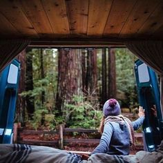 Opening the Sprinter door to a brand new day Photo: @vanalog_vibes Where's your favorite place to wake up? #sprintercampervans Regram via @sprintercampervans