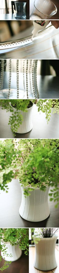 puffy paint planter DIY