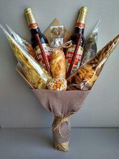 Beer Bouquet, Man Bouquet, Food Bouquet, Gift Bouquet, Wine Gifts, Food Gifts, Craft Gifts, Simple Wedding Bouquets, Flower Bouquet Wedding