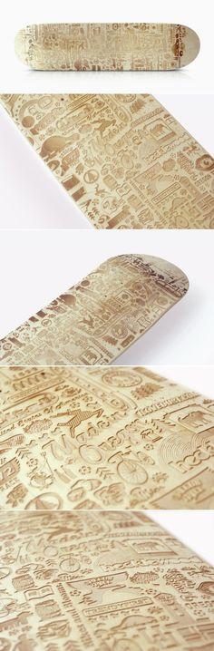 Laser etched skateboard- ilovedust