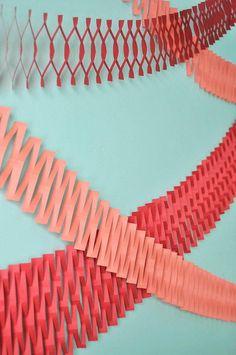 DIY Paper Crafts : DIY Paper Net Garland