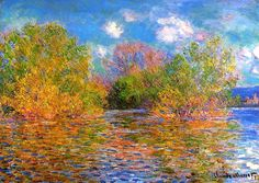 The Seine near Giverny, Claude Oscar Monet - 1888 The Impressionist