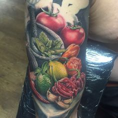 Chefs cooking half sleeve tattoo dbkaye