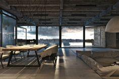 diseño de salón comedor industrial