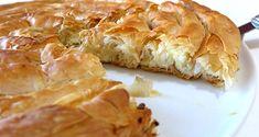 'Snail'-shaped Greek Cheese pie recipe (Kichi Kozanis) - My Greek Dish Cheese Pie Recipe, Feta Cheese Recipes, Greek Cheese Pie, Cheese Pies, Pastry Recipes, Pie Recipes, Georgian Food, Macedonian Food, Greek Cooking