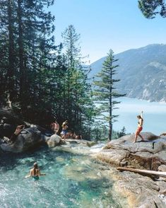 This Stunning Waterfall And Swimming Hole In BC Is The Ultimate Summer Hangout S. - This Stunning Waterfall And Swimming Hole In BC Is The Ultimate Summer Hangout S. This Stunning Waterfall And Swimming Hole In BC Is The Ultimate Su. Places To Travel, Places To See, Travel Destinations, Camping Places, Bali, Swimming Holes, Travel Aesthetic, Summer Aesthetic, Adventure Aesthetic