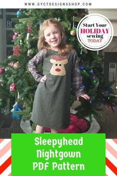 98c27015ab Make this holiday season special with a quick nightgown sewing project. Sew  up this knit