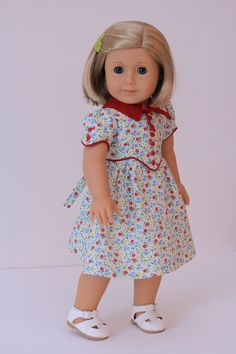 1930's Frock for American Girl doll Kit or Ruthie. $35.00, via Etsy.
