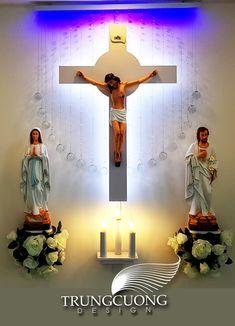 Prayer Corner, Prayer Box, Altar Design, Church Design, Home Altar Catholic, Grotto Design, Living Room Partition, Pooja Room Design, Jesus Christ Images