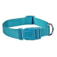 Teal Blue Adjustable Nylon Dog Collar SM