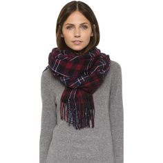 Standard Form Check Plaid Scarf ($145) ❤ liked on Polyvore featuring accessories, scarves, black, plaid scarves, tartan shawl, tartan plaid shawl, black scarves and plaid shawl