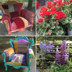 Our chairs colour coordinated beautifully with our neighbour's flower stall at Alexandra Palace farmer's market today Alexandra Palace, Coordinating Colors, Household Items, Farmer, Upcycle, Chairs, Colour, Flowers, Furniture