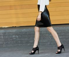 Tutorial: DIY leather A-line skirt