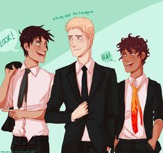 This actually makes a lot of sense, Percy being as informal as possible, Jason being all honor and stuff, and Leo trying to add humor to his. LOVE THIS