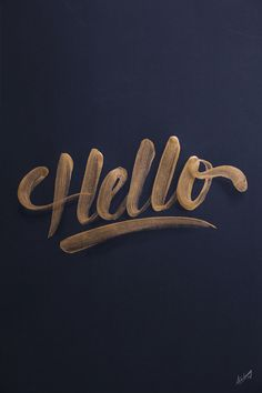 Typography / Golden lettering / collection '13