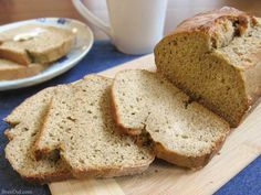 This recipe makes the best banana bread! This recipe eliminates ALL the oil, reduces sugar to 1/2 c, and uses whole wheat flour but doesn't sacrifice taste.