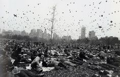 Peace Demonstration, Central Park, NY, 1970, by Garry Winogrand