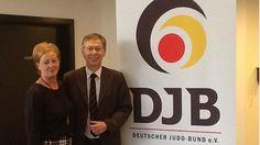 Auf der Mitgliederversammlung des Deutschen Judo Bundes e.V. in Bremen mit Dr..Carsten Sieling, MdB