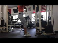 Cable front squats - YouTube